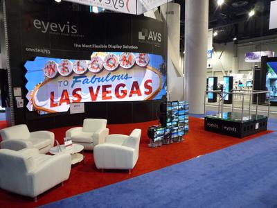 Front View: eyevis Stand at infoComm 2012
