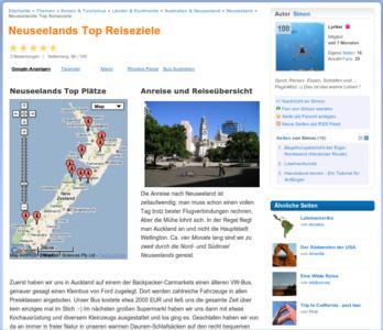 Neuseelands Top Reiseziele