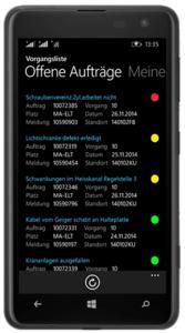 MembrainPAS PM auf einem WindowsPhone