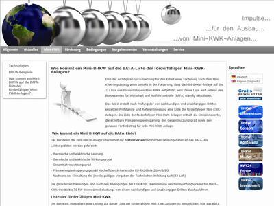 Screenshot Wie kommt eine Mini-KWK auf die BAFA-Liste der förderfähigen Mini-KWK-Anlagen? (Bild: BHKW-Infozentrum)