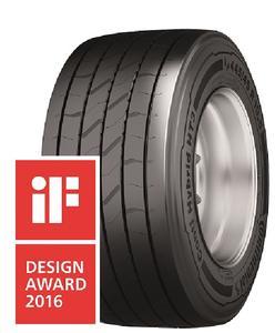 """Der Trailer-Reifen Conti Hybrid HT3 445/45 R 19.5 überzeugt hinsichtlich Gestaltungsqualität, Sicherheit und Umweltverträglichkeit und wird in der Kategorie """"Produkt"""" mit dem iF-Design-Award ausgezeichnet"""