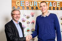 Franz Ochs (Leiter Caritas-Kinder- und Jugendhaus Stapf), Rainer Fischer (Geschäftsführer TSO-DATA Nürnberg GmbH)