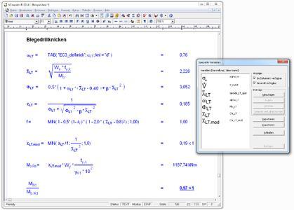 Freely configurable formula symbols enable virtually unlimited calculations using natural mathematical notation