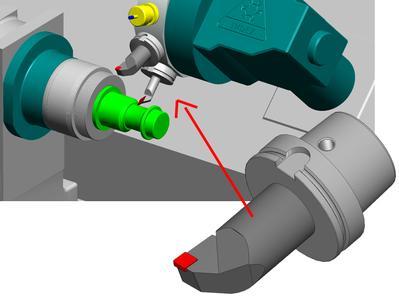 ProfiKINEMATIK bietet als integraler Bestandteil von ProfiCAM eine Maschinenraum-simulation mit Materialabtrag und Kollisionskontrolle