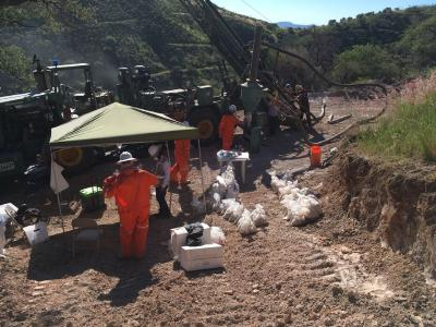 Bohrung auf Cerro Caliche / Foto: Sonoro Metals