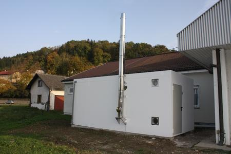 GILLES-Box for heat-insulated dwelling house or gas-price planned by KMU company.