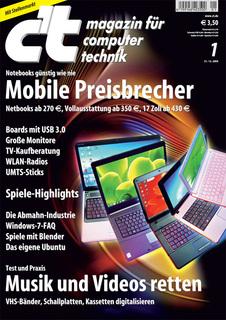 Das Titelbild der aktuellen c't-Ausgabe 1/2010
