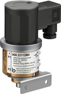 Differenzdruckschalter mit Wechselkontakten für flüssige und gasförmige Medien