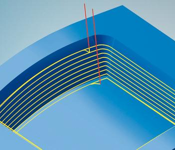 3D shape Z-level finishing allows curved bottom surfaces to be referenced / Image source: OPEN MIND