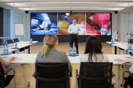 ERBE Academy uses eyevis video wall