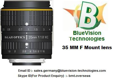 "35 mm & 50 mm F-Mount Machine Vision Lenses - ""Balaji Optics (BO)"""