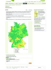 Darstellung der geografischen Verteilung eines Namens.