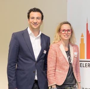 Marian Pennanen and Ram Shoham, Founder of Accelerator Frankfurt