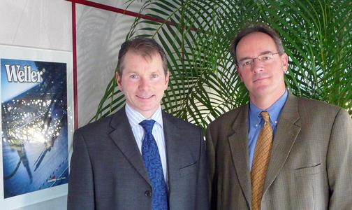 Geschäftsführer Stefan Gyarfas (r.) und Prokurist Stephan Hofmann (l.)