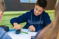 Mit interaktiven Vorträgen und Workshops macht COACHING4FUTURE baden-württembergischen Schülerinnen und Schülern Lust auf Mathematik, Informatik, Naturwissenschaft und Technik (MINT) / (c) Baden-Württemberg Stiftung gGmbH
