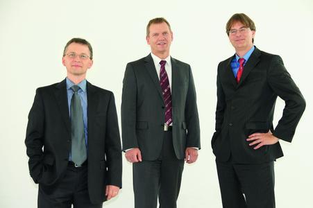 Der Vorstand der KUMAVISION AG: Markus Leuter, Markus Schrade und Kay von Wilcken.