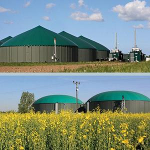 Application example for energy recovery - biogas plants and cogeneration plants