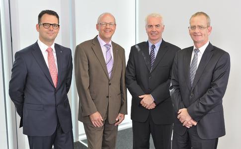 The new management team of BYK-Chemie GmbH (left to right): Gerd Judith, Albert von Hebel, Frank B. J. Wright, and Dr. Christoph Schlünken (Chairman of the Management Board)