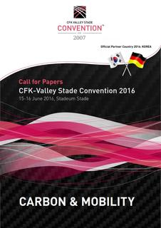 "Aufruf ""Call for Papers"" – Jetzt Vortrag zur 10. Internationalen CFK-Valley Stade Convention 2016 einreichen"