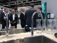 Ein besonderes Highlight war die Vorstellung des neuen leitungsgebundenen Trinkwasserspenders RE.SOURCE