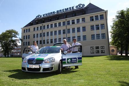 Uebergabe Spende an DocStop durch Knorr Bremse