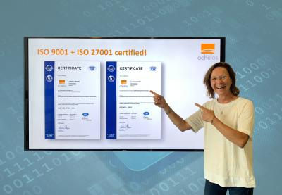 achelos certified according to ISO 9001 and ISO 27001