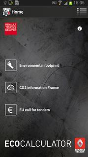 Mit dem EcoCalculator von Renault Trucks lassen sich die relevanten ökologischen Rahmendaten von Transporten einfach berechnen