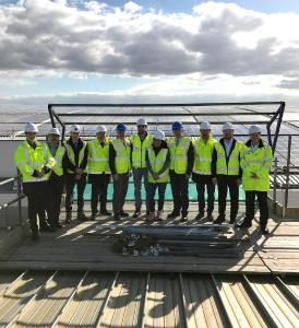 The engineering and construction team completed the Solar PV system on time and on budget