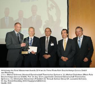 René Wasserman Award 2014