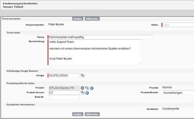 """Im neuen """"Eplan Solution Center"""" können Anwender einfach ein Ticket erstellen, um Antworten auf individuelle Projektierungsfragen zu bekommen"""
