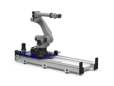 Die modular aufgebauten Linearachssysteme für Roboter können applikationsspezifisch angepasst und einfach in Automatisierungsprozessen eingesetzt werden