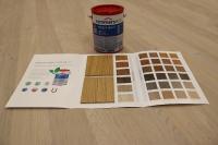 Das High-Solid-Öl HSO-118 [eco] gibt es in sechs Grundfarbtönen und in weiteren 24 Mischfarbtönen, Bildquelle: Remmers, Löningen