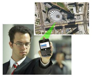 GPS Standortbestimmung.