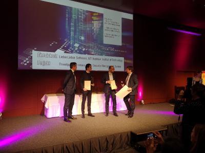 """LieberLieber und AIT erhielten am 29.Jänner 2020 in Wien für THREATGET den eAward 2020 im Bereich """"Industrie 4.0"""""""