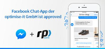 Facebook Chat-App der optimise-it GmbH ist approved
