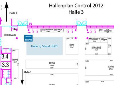 Hallenplan 2012 - So finden Sie uns in Halle 3; Stand 3501