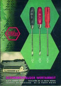 Das Wiha Nostalgie-Blechschild als charmantes Beispiel für die frühen Anfänge des Schwarzwälder Werkzeugherstellers bzw. der damaligen Unternehmenskommunikation