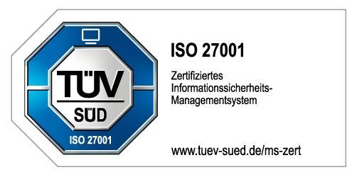 DCON ist nach ISO 27001 (Informationssicherheitsmanagementsystem) zertifiziert