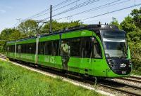 Ziel von LogIKTram ist es, mehr Güterverkehr auf die Schiene zu verlagern – und so zu einer besseren Verkehrsklimabilanz beizutragen. (Foto: Paul Gärtner, KVV)