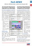 [PDF] Pressemitteilung: Touch Screen Display erleichtert die Bedienung der HD-Pumpen