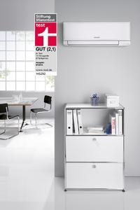 Die Klimaanlage CAWR Exklusiv von Stiebel Eltron – hier das Innenteil – konnte im Vergleich der Stiftung Warentest überzeugen