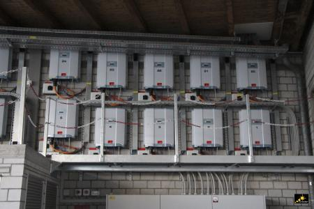 Installation of M50A inverters in warehouse interior