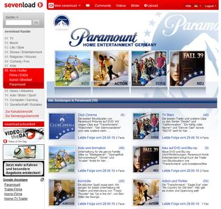 Paramount Branded Channel bei sevenload