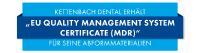 "Kettenbach Dental erhält ""EU Quality Management System Certificate (MDR)"""