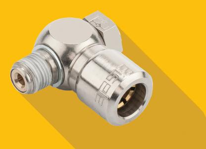 Eisele Connector´s BASICLINE offers a range of more than 4.000 all-metal standard pneumatic connectors and push-in fittings, including throttle valves and accessories