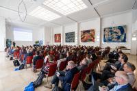 Auf der Bundeskonferenz 2019 der TransferAllianz diskutierten mehr als 200 Teil-nehmerinnen und Teilnehmern aus ganz Deutschland mit internationalen Expertinnen und Experten über Herausforderungen und Trends im modernen Wissens- und Technologietransfer (Foto: TransferAllianz e.V.).