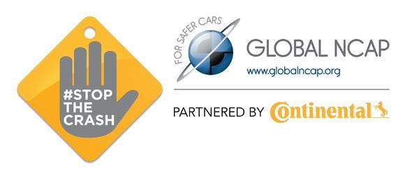 """Logo der weltweiten Global NCAP-Kampagne """"Stop the Crash"""""""