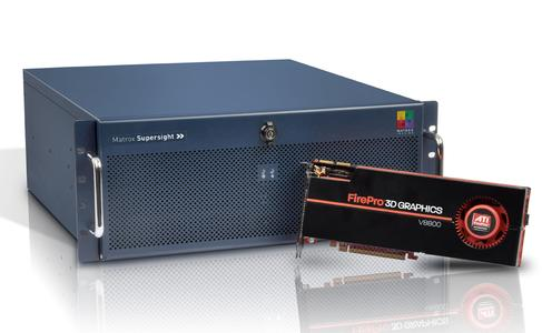 Matrox Supersight and ATI FirePro - up to 1600 stream processors and 147.2 GB/s of memory bandwidth