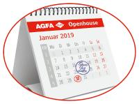 Applikationsvielfalt Folie und UV LED Technologie zur Agfa Openhouse