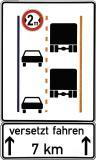 Versetzt fahren sorgt bei Ausweichmanövern für ausreichend Platz im Baustellenbereich